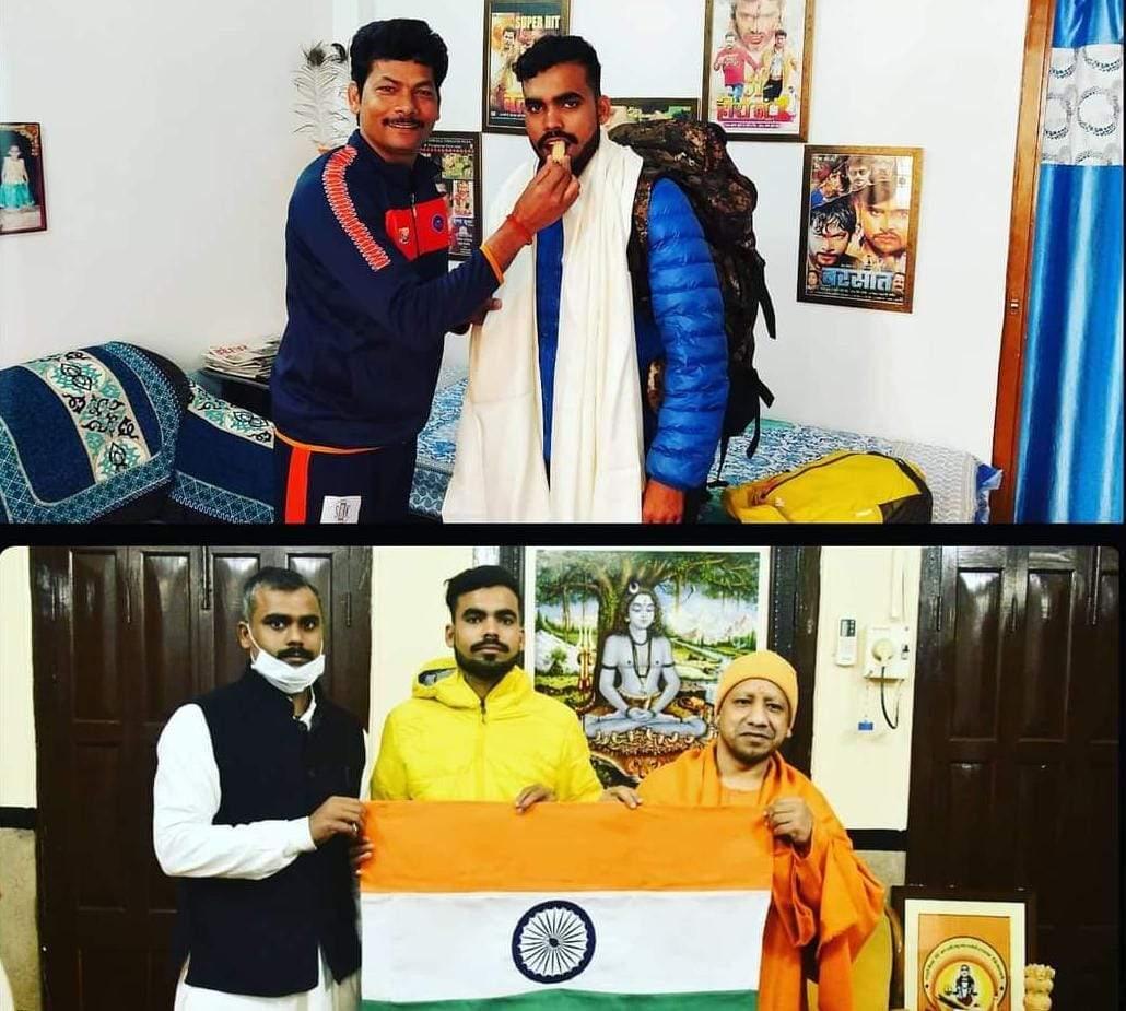 कृष्णा कुमार ने पर्वतारोही नीतीश कुमार को माउण्ट किलिमंजारो पर तिरंगा फहराने के लिए विदा किये